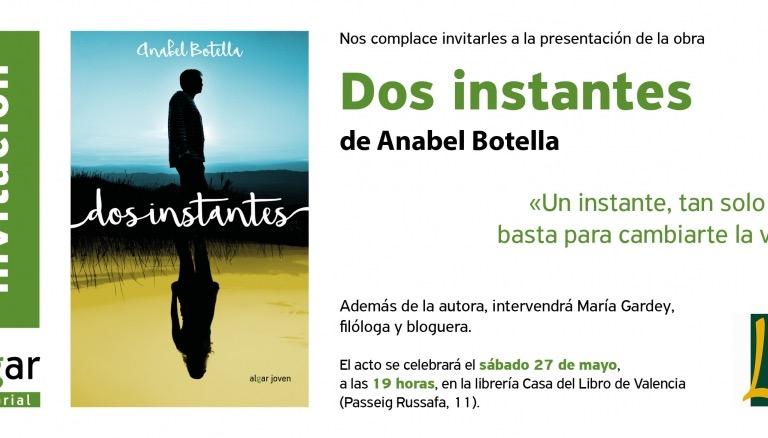 Presentación de 'Dos instantes' en la Casa del Libro de Valencia