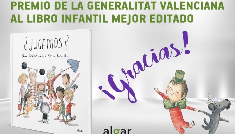 """""""¿Jugamos?"""" gana el Premio al Libro Infantil Mejor Editado de la Generalitat Valenciana"""