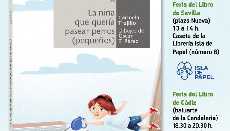 Carmela Trujillo en las Ferias del Libro de Sevilla y Cádiz