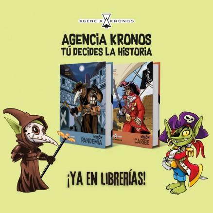 ¡Ya en librerías los libros multiaventura de Agencia Kronos. Tú decides la historia!