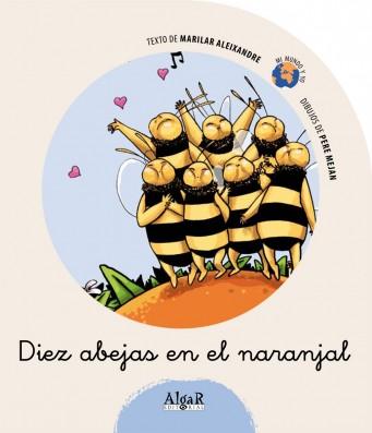 Diez abejas en el naranjal