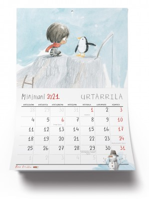 Calendario Minimoni 2021 Euskera