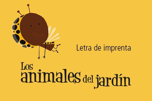 Los Animales del Jardín (Letra de imprenta)